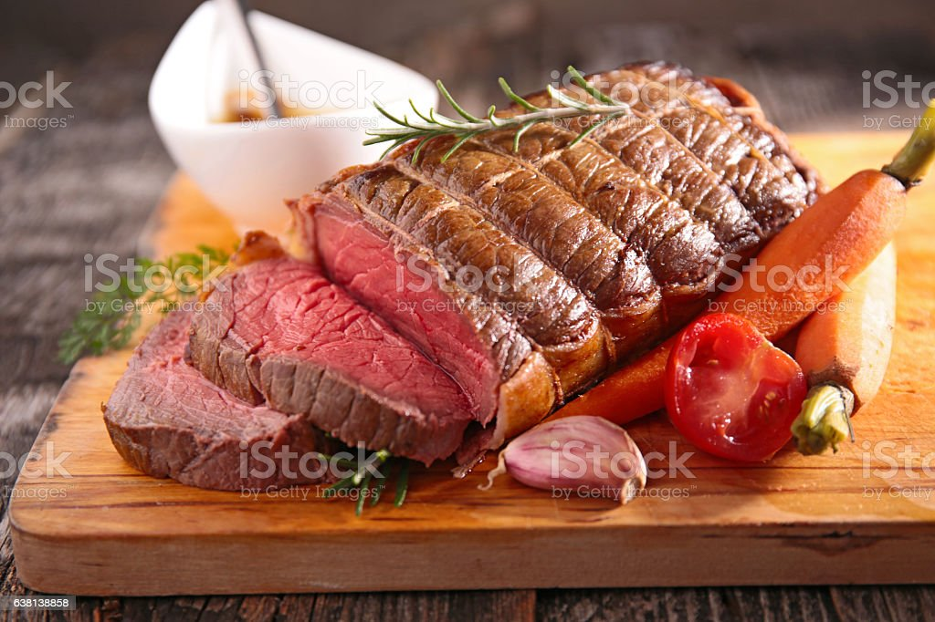 roast beef fillet stock photo