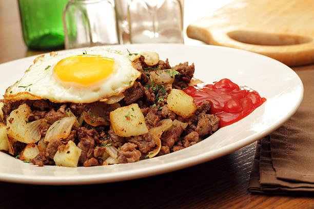 Roast Beef Hash stock photo