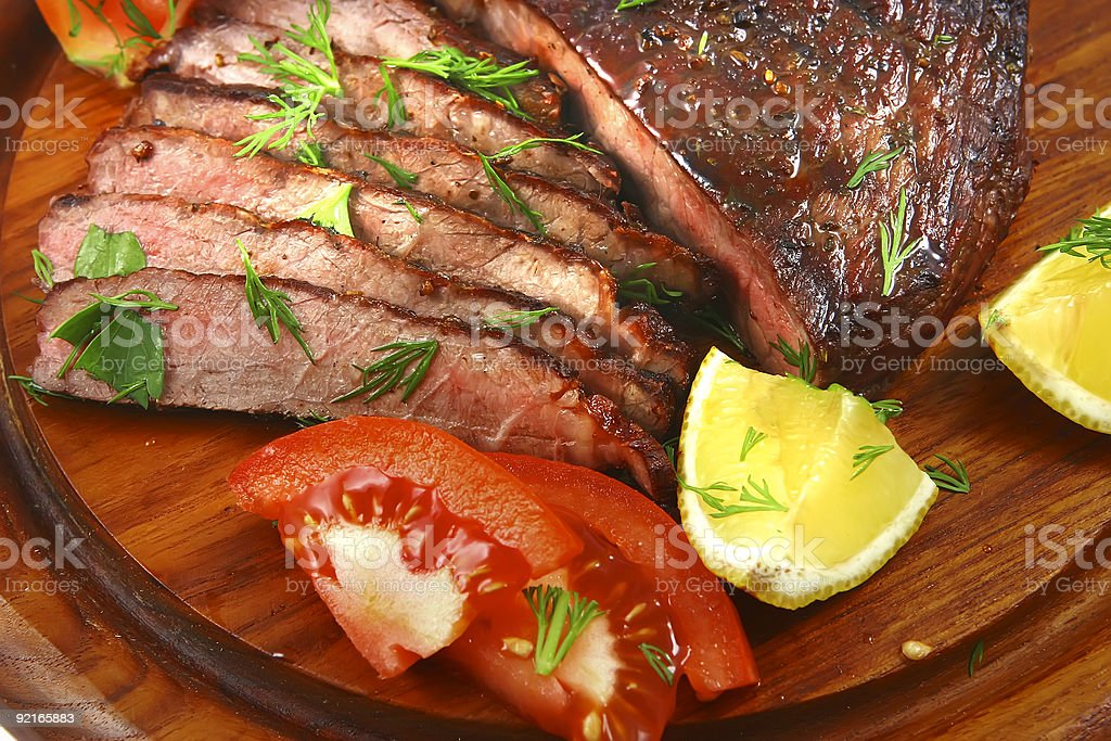 roast beef meat royalty-free stock photo