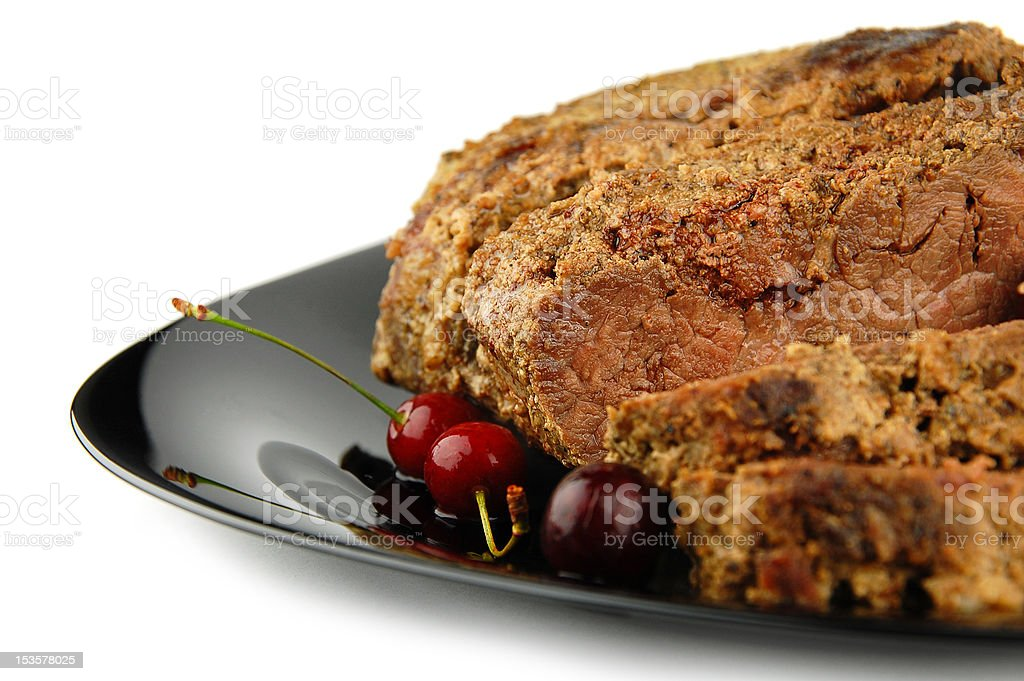Roast beef meat with selective focus royalty-free stock photo