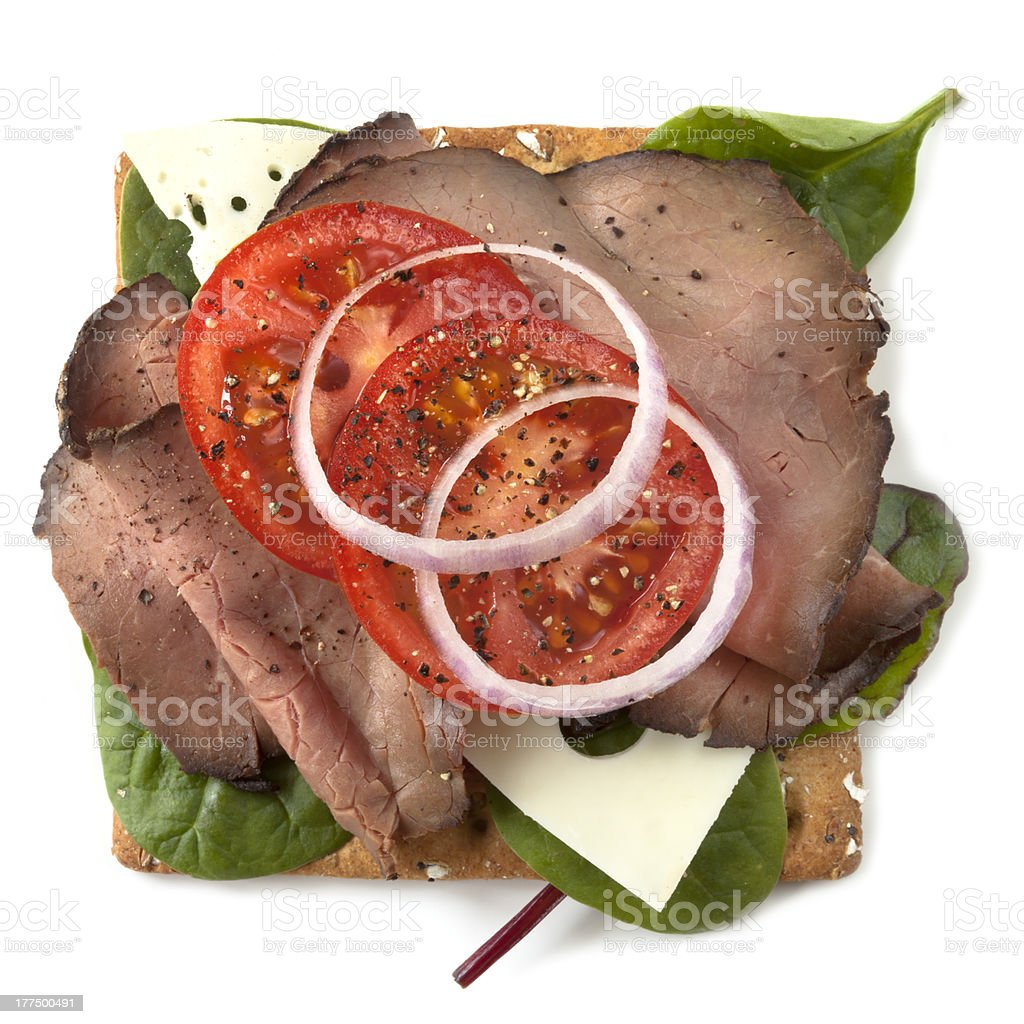 Roast Beef Open Sandwich​​​ foto