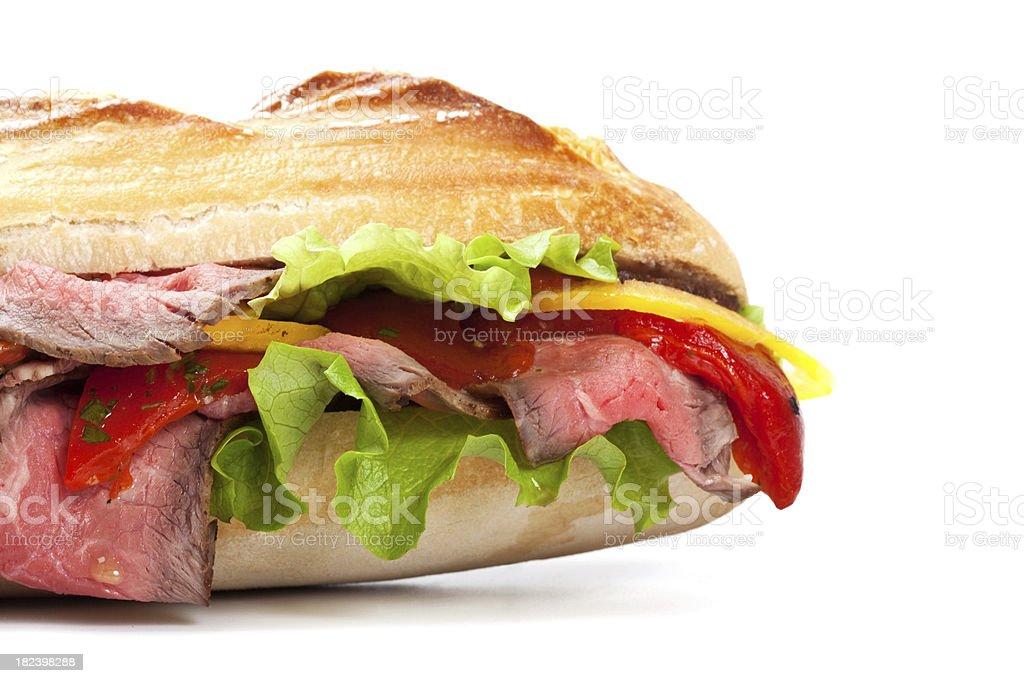 Roast Beef sandwich close-up royalty-free stock photo
