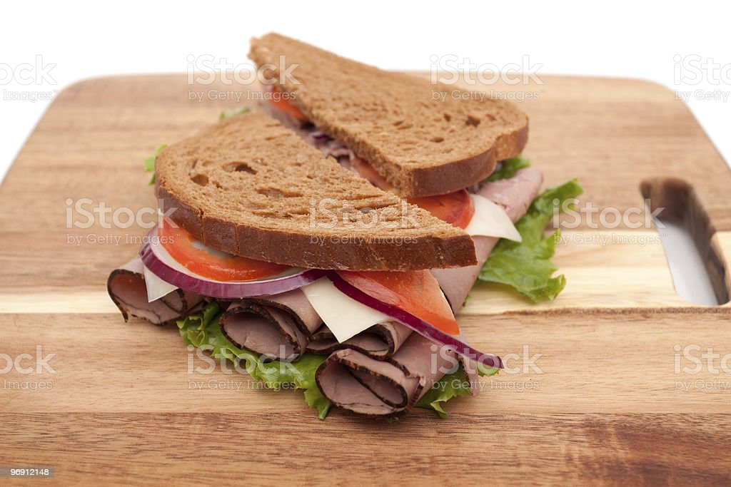 Roast beef sandwich royalty-free stock photo