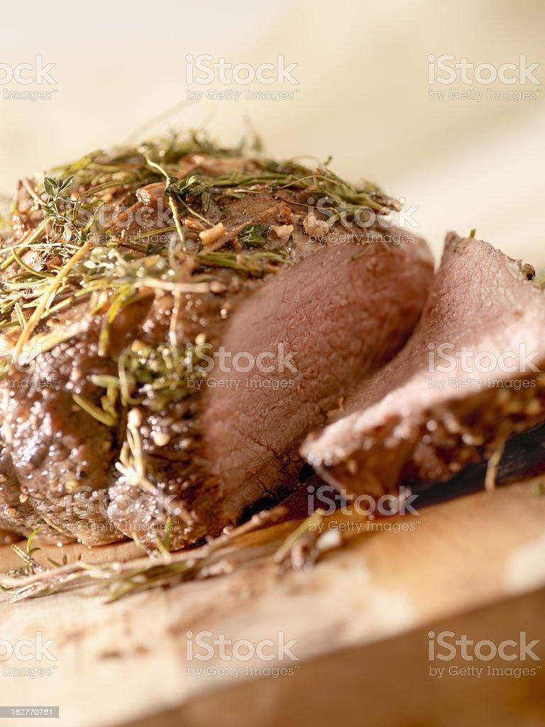 Roast Beef with Rosemary royalty-free stock photo