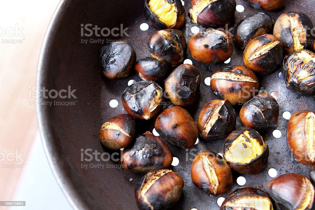 Roast Chestnuts stock photo
