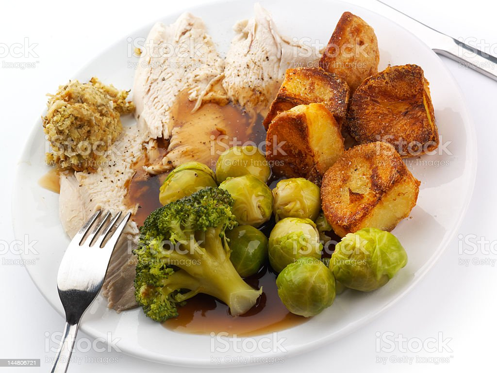 Roast Chicken dinner royalty-free stock photo