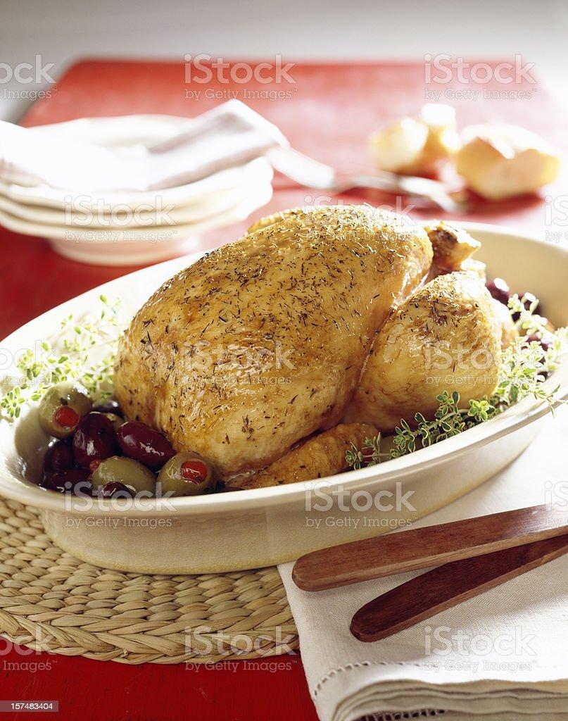 Roast Chicken. royalty-free stock photo