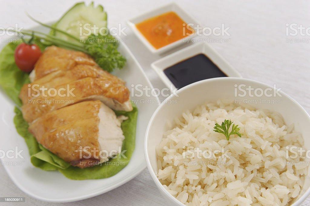 Roast Chicken rice set royalty-free stock photo