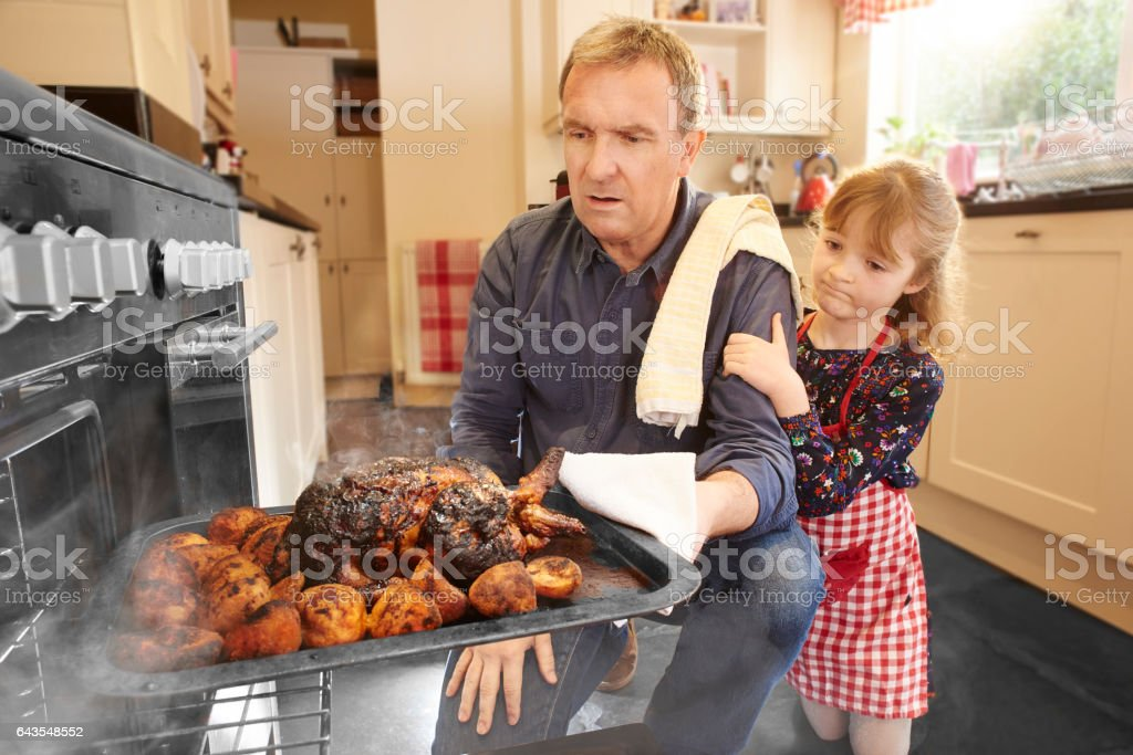 roast dinner fail stock photo