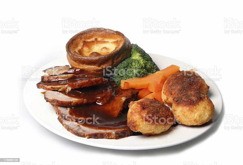 Roast Dinner royalty-free stock photo