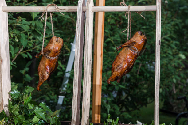 Roast Duck at wedding Delicious food and desserts catering for weddings and private events chinese wedding dinner stock pictures, royalty-free photos & images