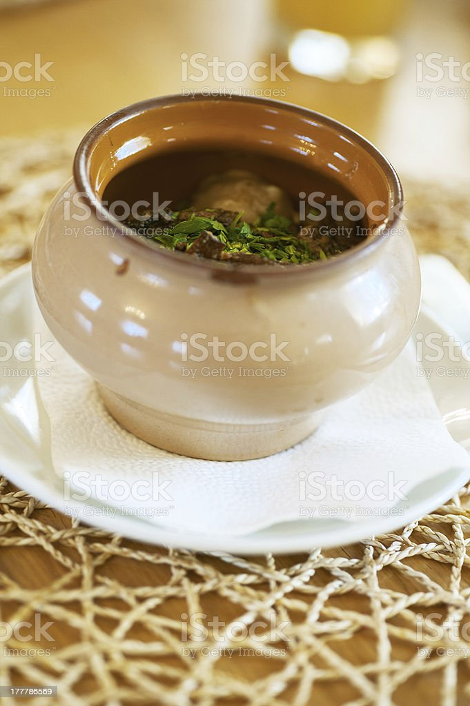 roast in a clay pot royalty-free stock photo