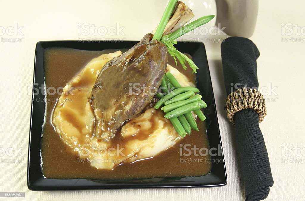 roast lamb and vegetables royalty-free stock photo