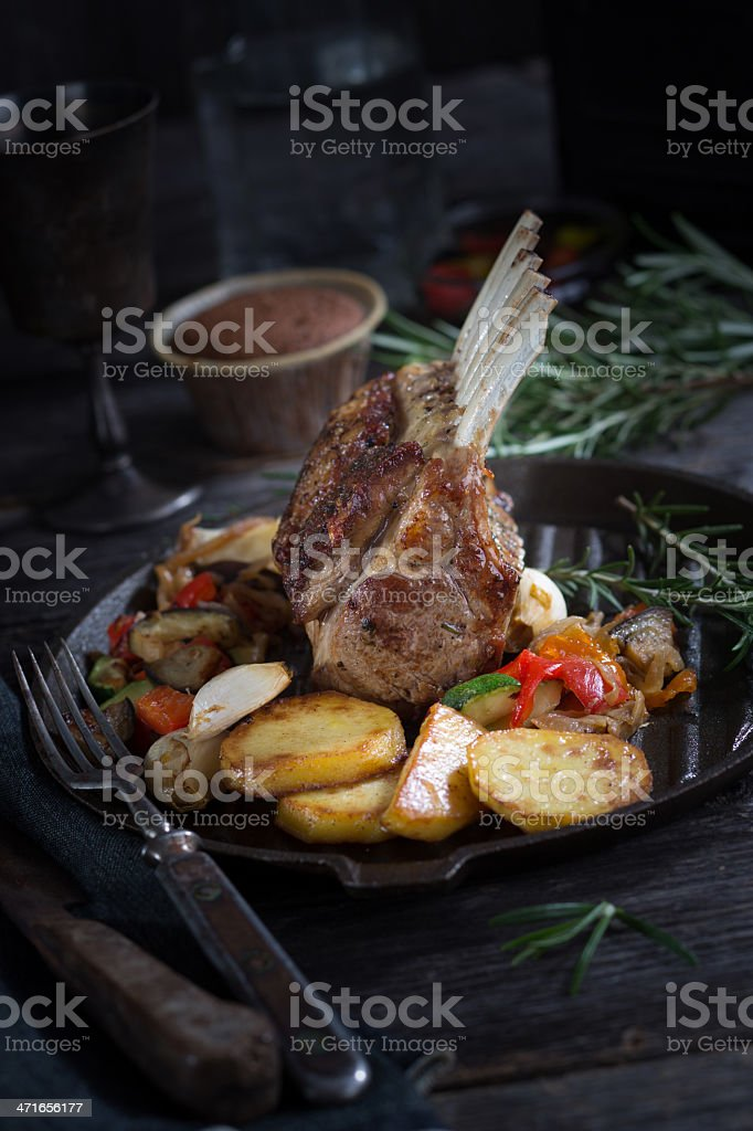 Roast Lamb stock photo