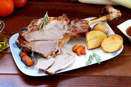istock Roast Leg of Lamb for Main Course 1010877468