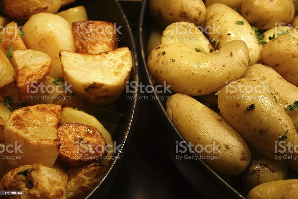 Roast or boiled potatoes anyone? royalty-free stock photo