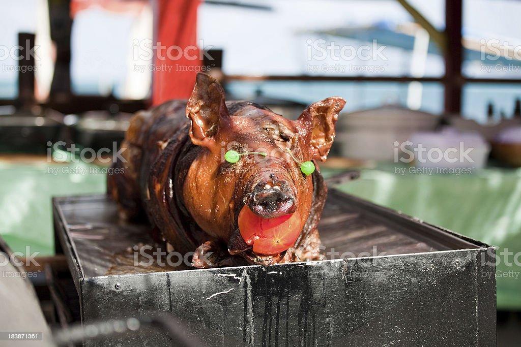 Roast Pig royalty-free stock photo