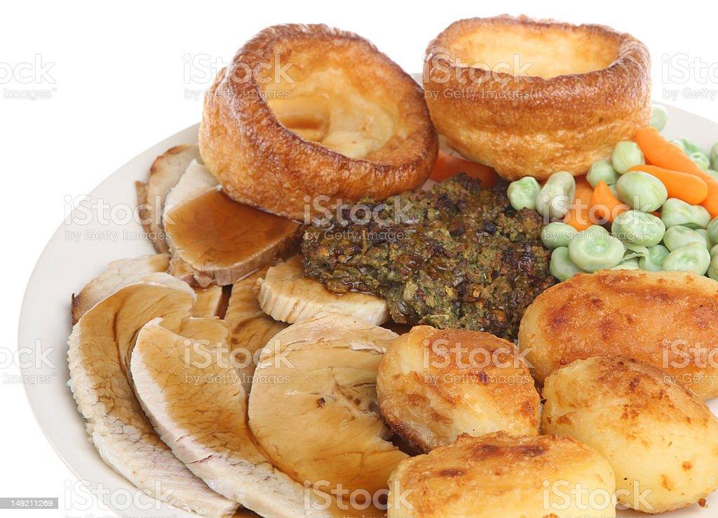 Roast Pork Dinner royalty-free stock photo