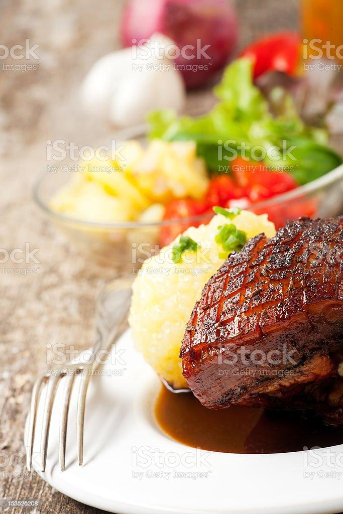 roast pork dish royalty-free stock photo
