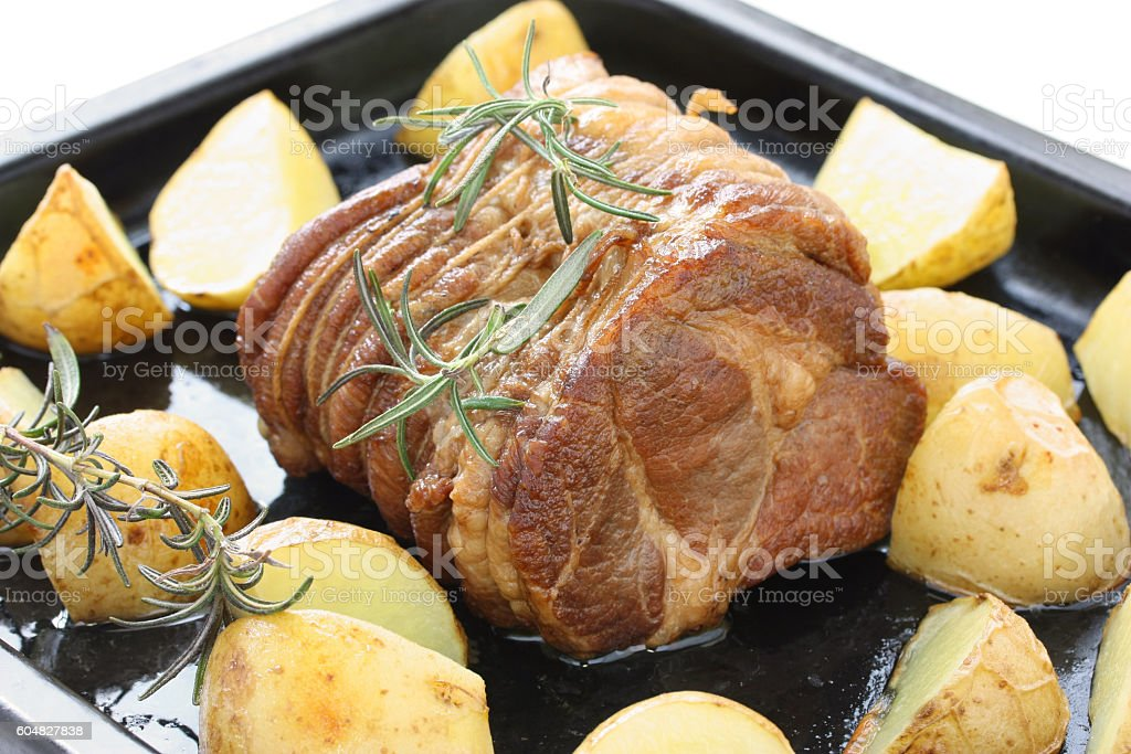 roast pork stock photo