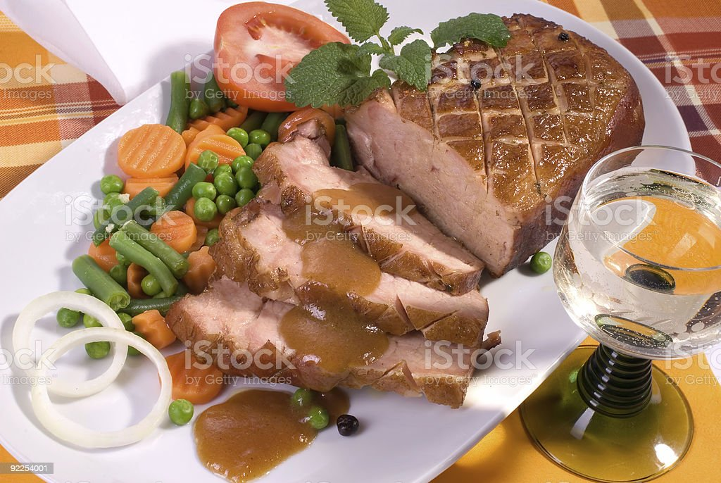 roast pork royalty-free stock photo