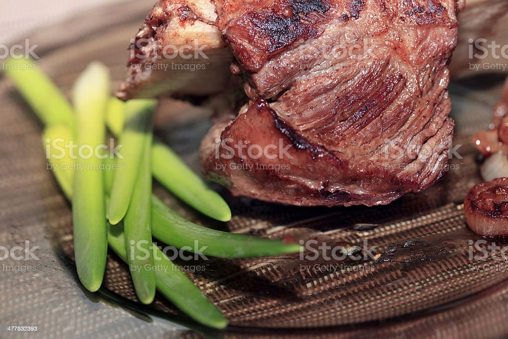 Roast red beef meat royalty-free stock photo