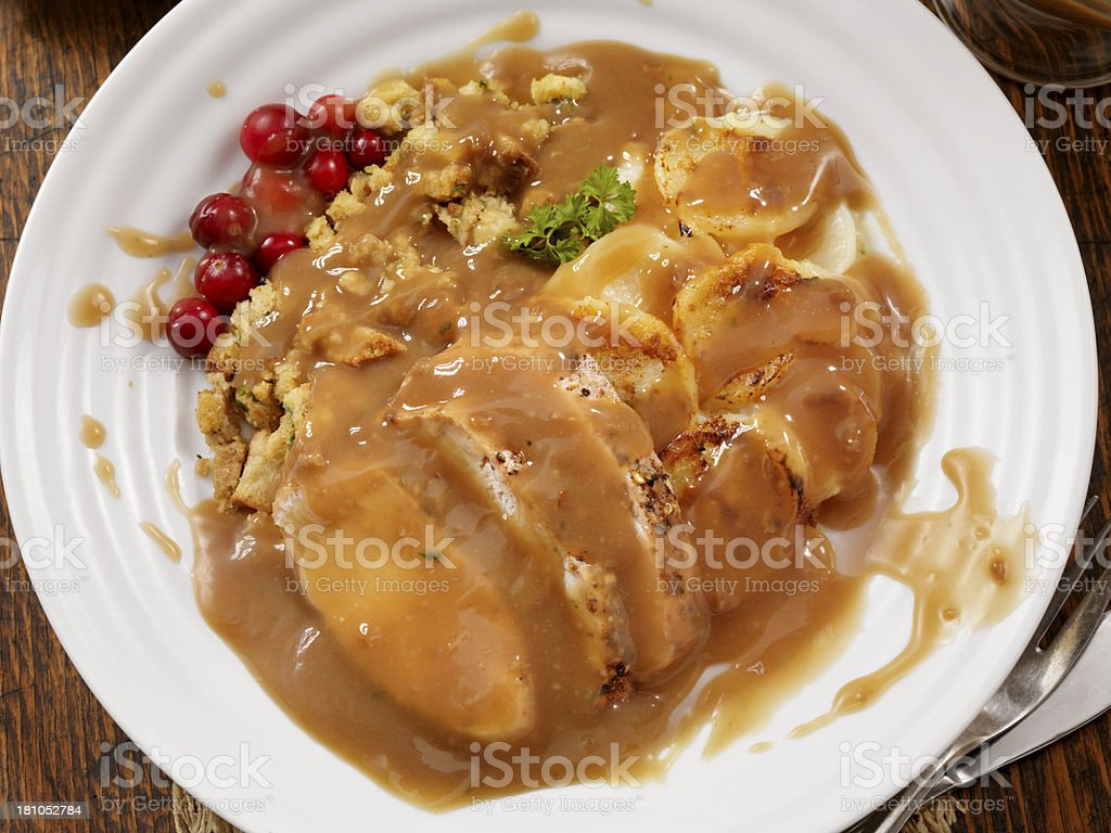 Roast Turkey Dinner royalty-free stock photo