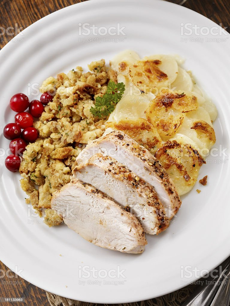 Roast Turkey Dinner royalty-free stock photo