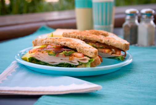 Roast Turkey or Chicken Bacon Lettuce & Tomato Toasted Sandwich Meal