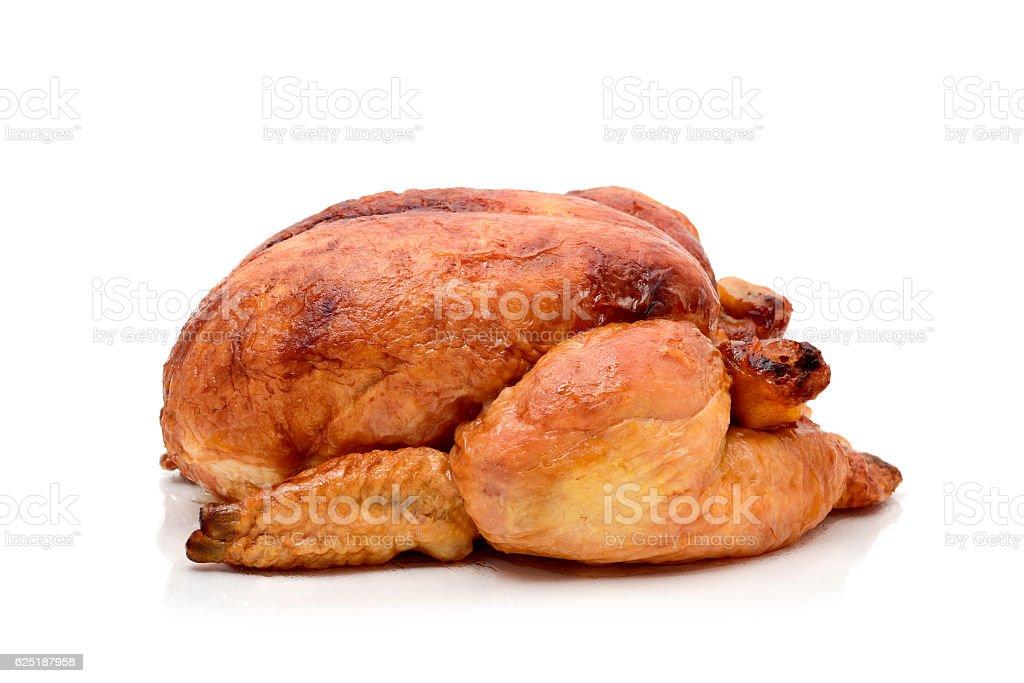 roast turkey or roast chicken stock photo