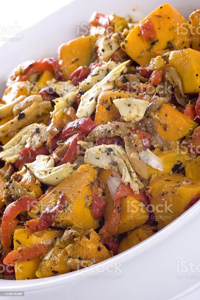 Roast Vegetable Salad royalty-free stock photo