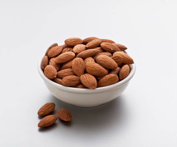 Roasted and Peeled almond in a bowl