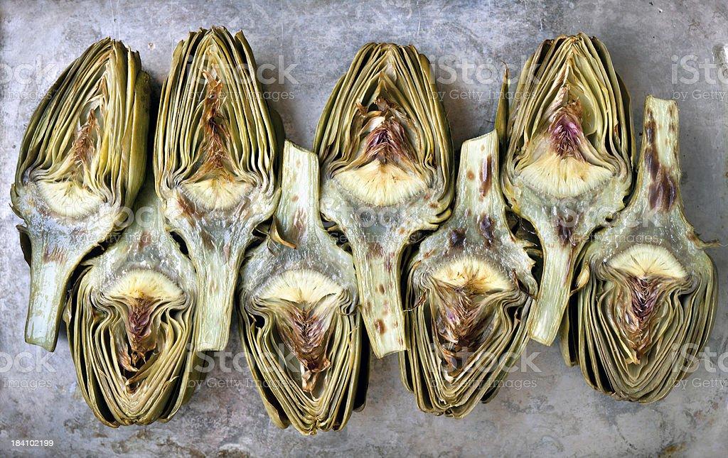 Roasted artichokes royalty-free stock photo