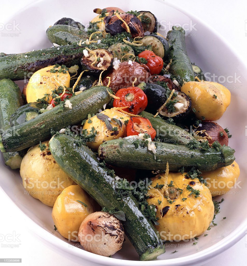 Roasted Baby Vegetables royalty-free stock photo