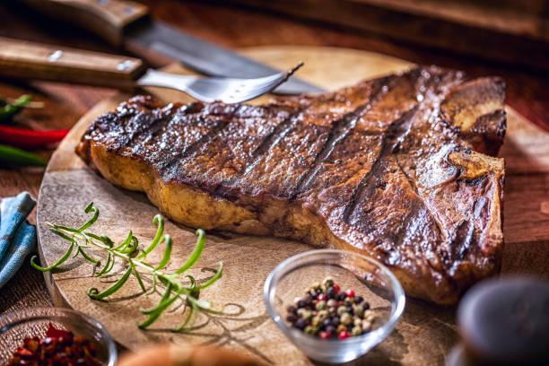 Chuletón de buey asado barbacoa - foto de stock