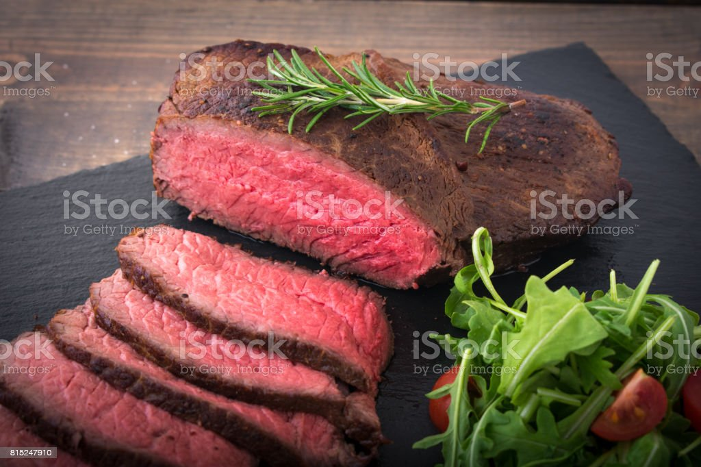 roasted beef, cross rib stock photo