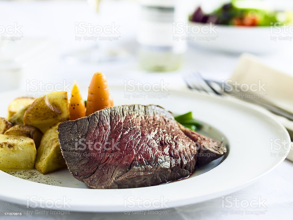 Roasted beef dinner royalty-free stock photo
