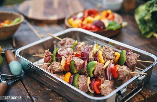 Roasted Beef Kebab with Vegetables