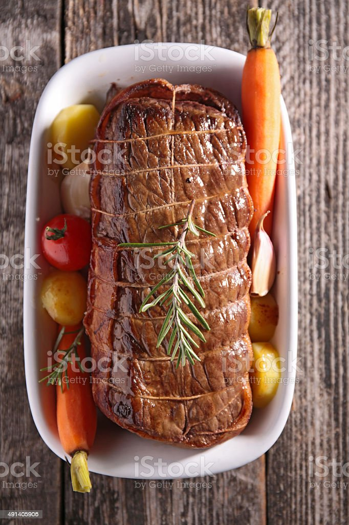 roasted beef stock photo