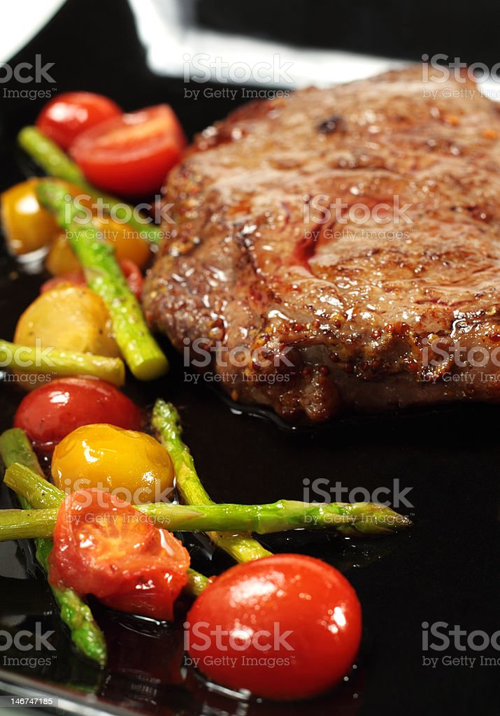 Roasted Beef with Braised Vegetable royalty-free stock photo