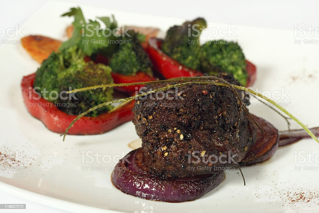 Roasted beefsteak royalty-free stock photo