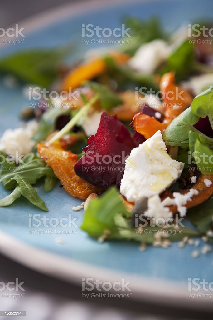 Roasted Beetroot Salad royalty-free stock photo