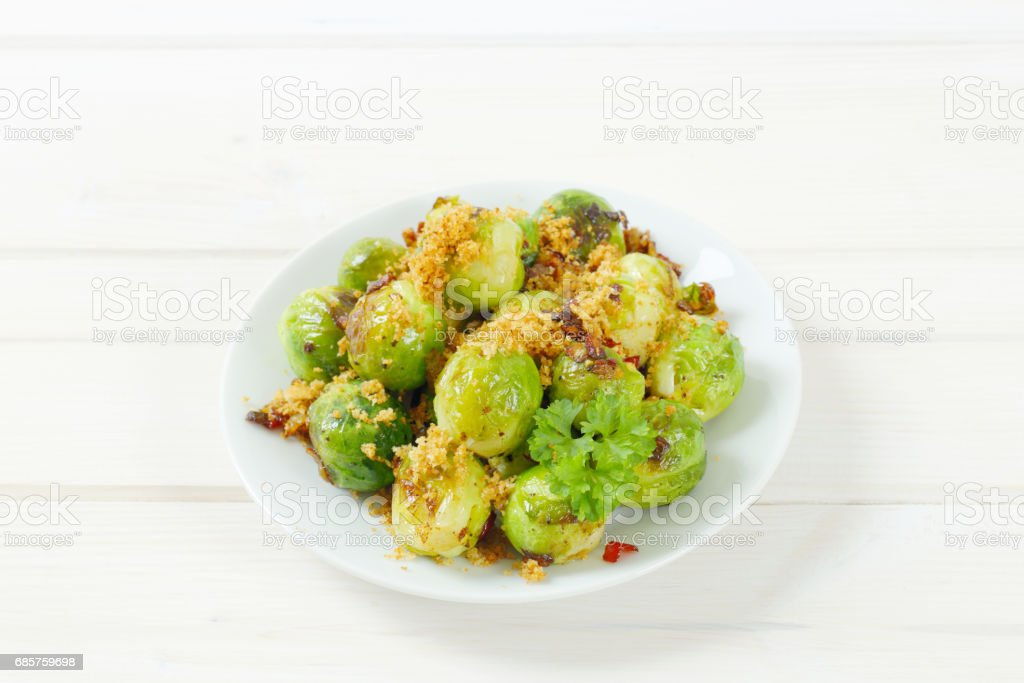 Roasted brussel sprouts foto stock royalty-free