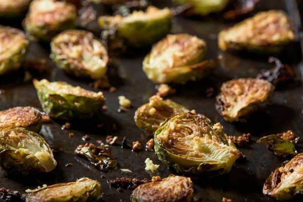 烤布魯塞爾芽 - 小椰菜 個照片及圖片檔
