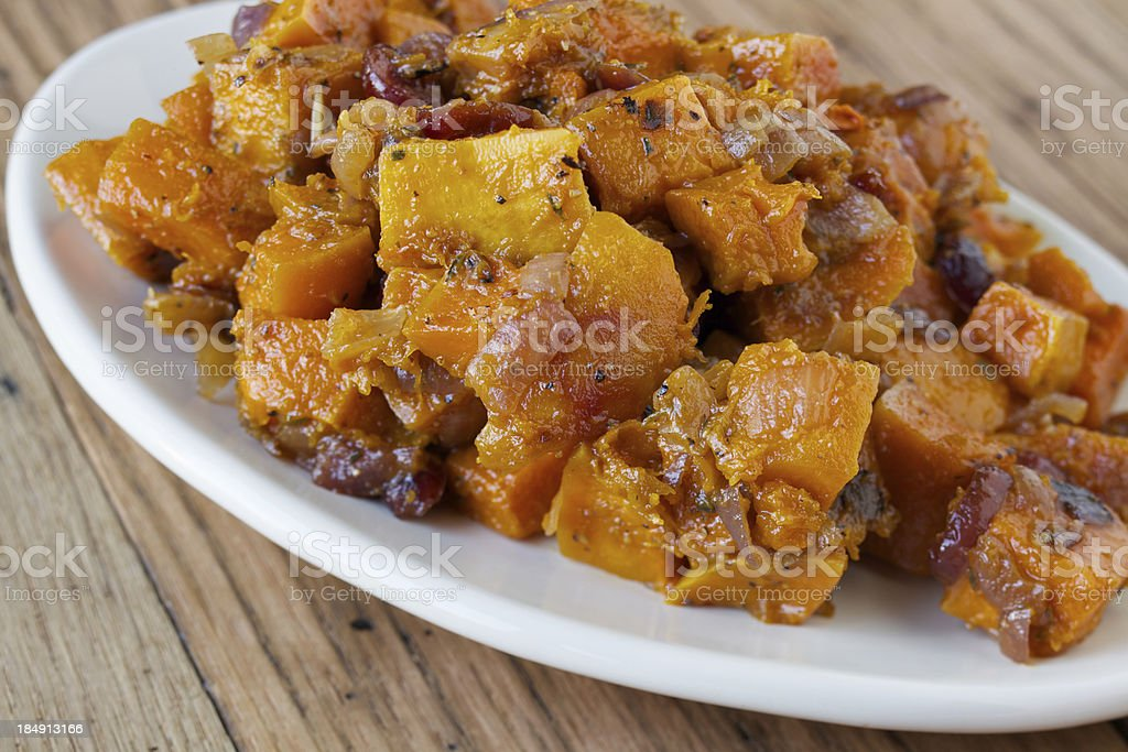 Roasted butternut squash royalty-free stock photo
