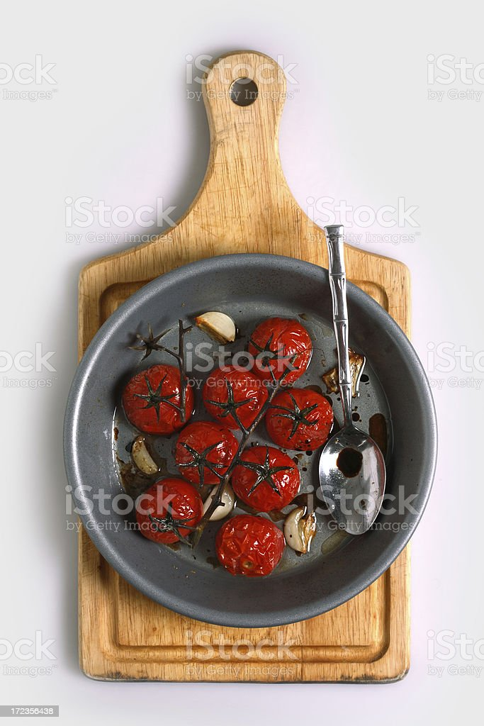 roasted cherry tomato royalty-free stock photo
