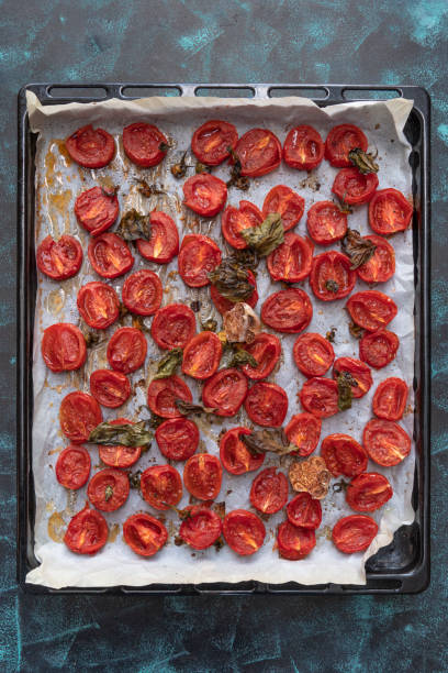Roasted cherry tomatoes stock photo