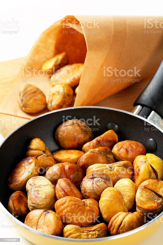 roasted chestnuts royalty-free stock photo