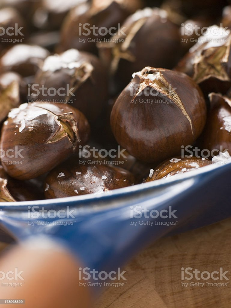 Roasted Chestnuts with Sea Salt royalty-free stock photo
