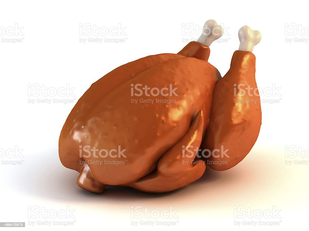 Roasted chicken 3d illustration​​​ foto